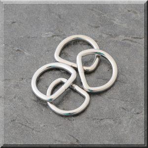D-ring nikkel stor