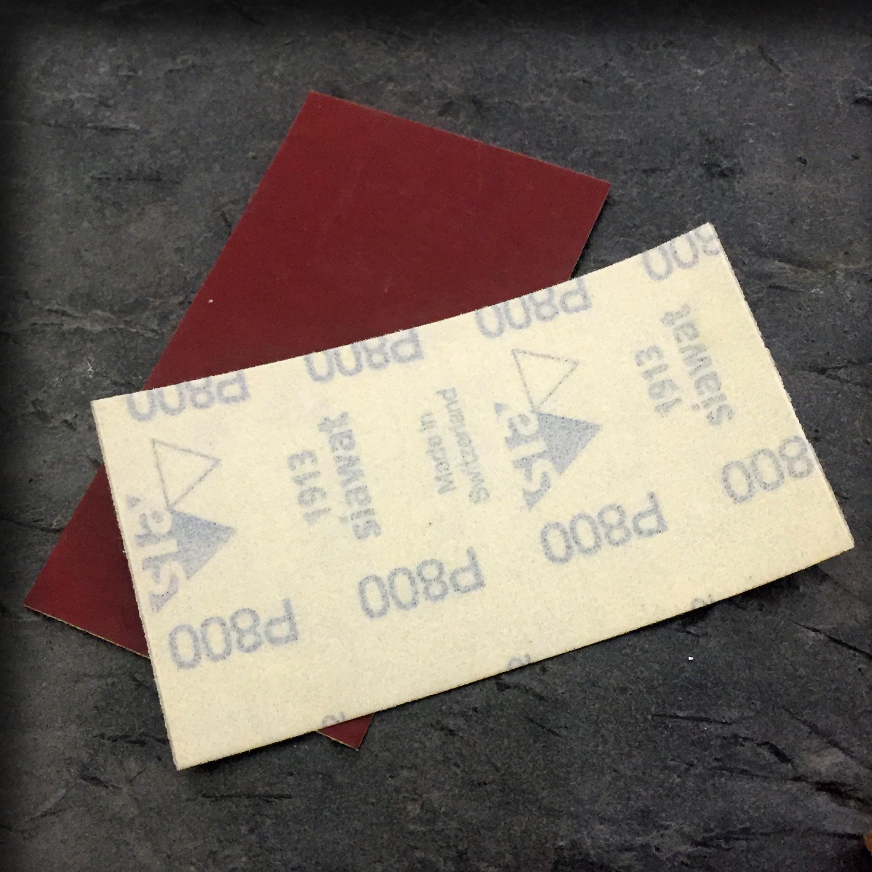 Vannslipe papir med borrelås