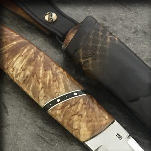 brukskniv kniv valbjørk sølvtinn vulkanfiber