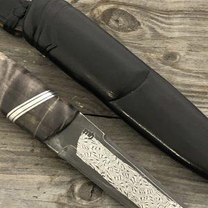 kniv med mosaikkdamask blad